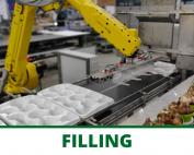 Tray filling robots